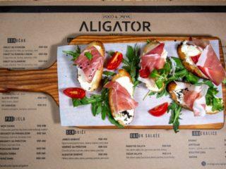 Brusketi sa pršutom Aligator Bar dostava