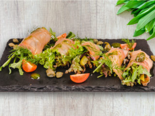 Rolnice sa dimljenim lososom Splav restoran Viva dostava