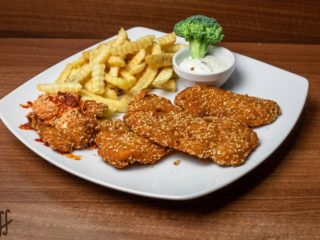 Fried chicken breast with sesame meal delivery