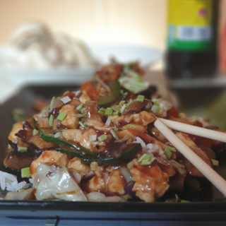 Chicken with mushrooms Tošin Wok delivery