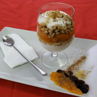 Granola with thick yogurt, hazelnuts, pumpkin and honey Equilibrium delivery