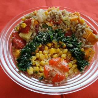 Grilled vegetable salad with Quinoa Equilibrium delivery