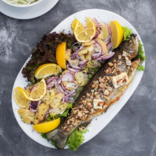 Trout with almonds and butter Kućerak Na Ribarcu delivery