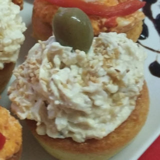 Salty stuffed muffins with chicken cream Equilibrium delivery