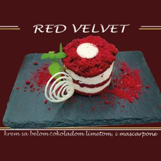 Red velvet All'oro Gold dostava