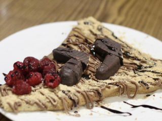 Eurokrem, plazma, krem bananica, crna čokolada, maline Pačalinka City Park dostava