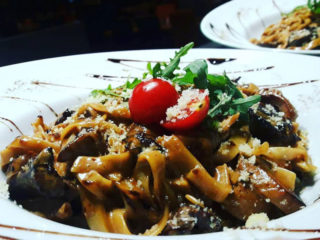 Tagliatelle with beefsteak and porcini Barka Restoran delivery