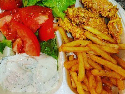 Hrskava piletina obrok Bulldog fast food dostava