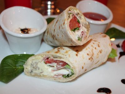 Tortilla with ham and mushroom cream Dolce delivery
