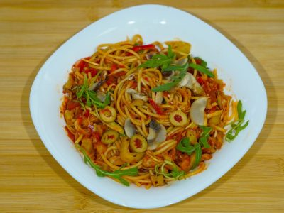 Red pasta Vege House delivery