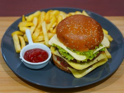 Double cheeseburger Vege House delivery
