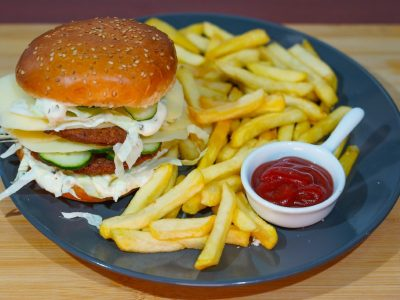 Double burger Vege House delivery