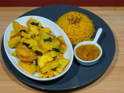 Pseudo fish curry Vege House delivery