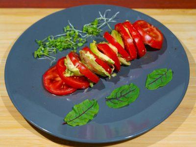 Raw vegan Caprese salad Vege House delivery