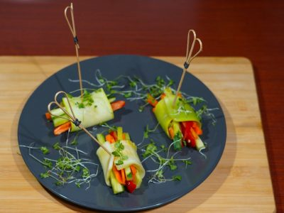 Raw zucchini wraps Vege House delivery
